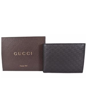 NEW GUCCI MICRO GUCCISSIMA VERTICAL WALLET BROWN